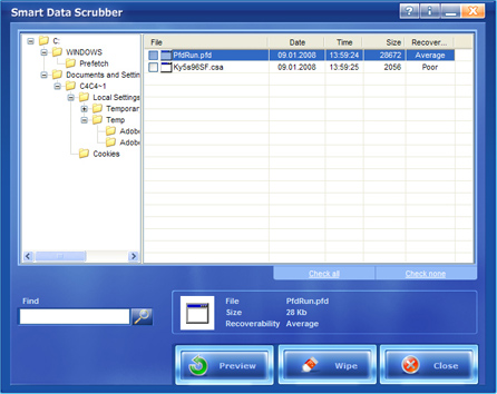 Data Scrubber Interface