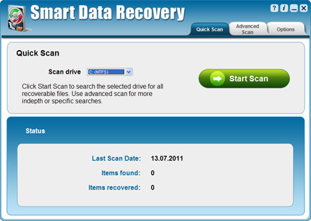 Click to view Smart Data Recovery 5.2 screenshot