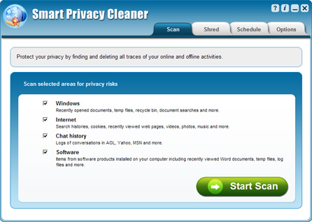 Click to view Smart Privacy Cleaner 3.4 screenshot