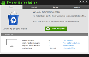 Uninstaller Screen