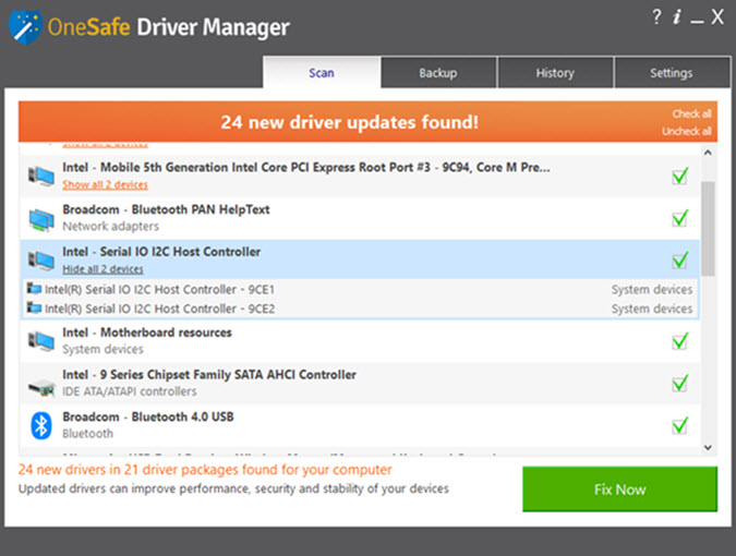 Smart Driver Manager results